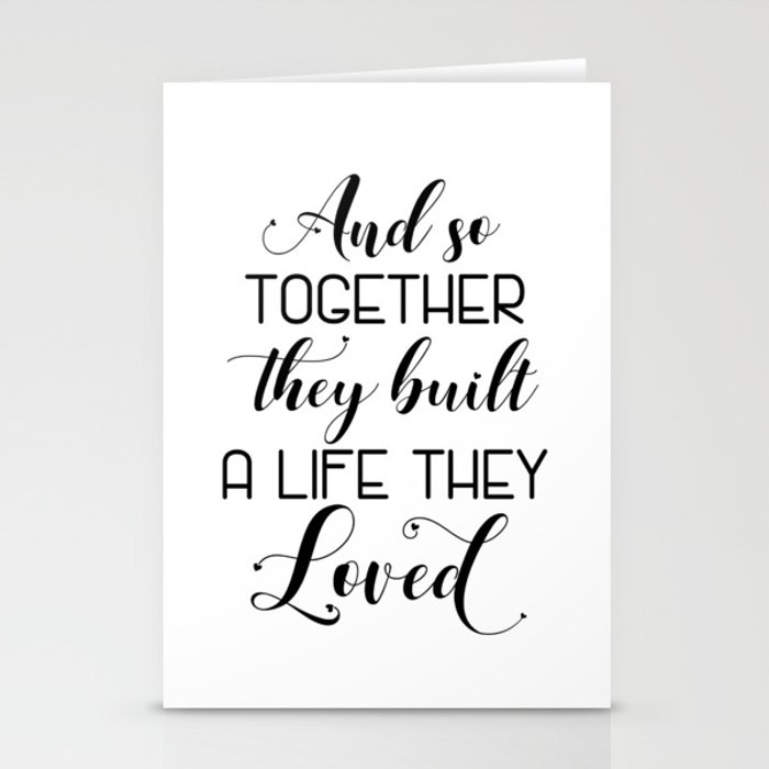 Wedding Gift Card Quotes: And So Together They Built A