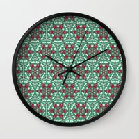 honeycomb Wall Clocks featuring Honeycomb by Paula Belle Flores