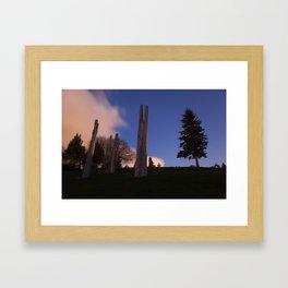 Japanese Ainu Totems at Simon Fraser University, BC Framed Art Print