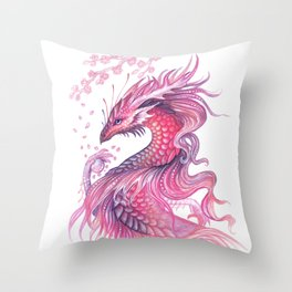 Wind of blossom Throw Pillow