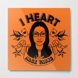 I heart Alex Vause Orange - OITNB inspired Metal Print