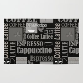Abstract pattern . Coffee . Rug