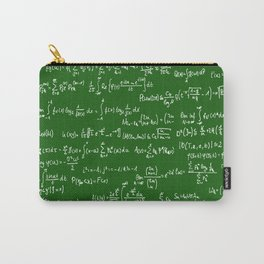 Math Equations // Green Carry-All Pouch