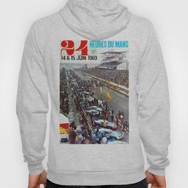 1969 Le Mans poster, Race poster, Car poster, vintage poster Hoody