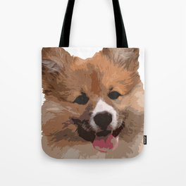 Cute Fluffy Corgi Dog Tote Bag