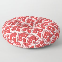 Fan Pattern Red 201 Floor Pillow