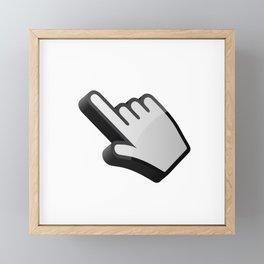 3D cursor (hand) Framed Mini Art Print
