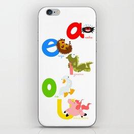 Vowels (spanish) iPhone Skin