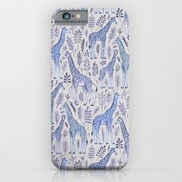 Blue Giraffe Pattern iPhone Case