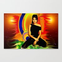 angelina jolie Canvas Prints featuring Angelina Jolie by JT Digital Art
