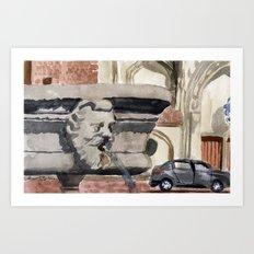 a watery watcher Art Print