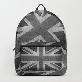 British Union Jack flag 1:2 scale retro grunge Backpack