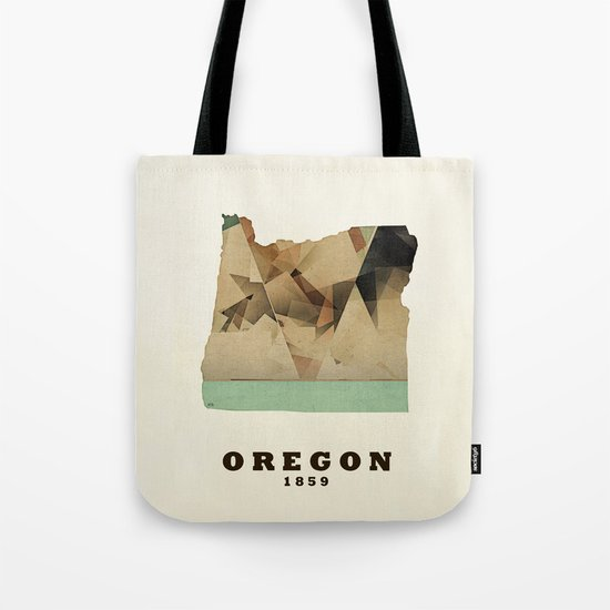 Oregon state map modern Tote Bag
