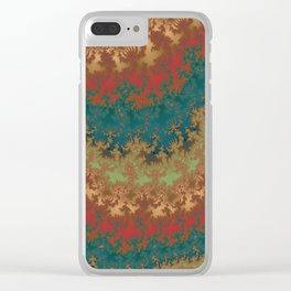 Fractal Layers Clear iPhone Case
