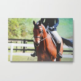 Trotting Gradient Metal Print