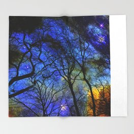 astral projection Throw Blanket