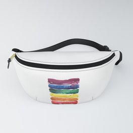 awesome rainbow watercolor Fanny Pack