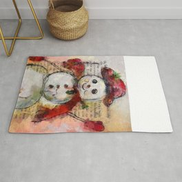 Snowman with Red Hat Rug
