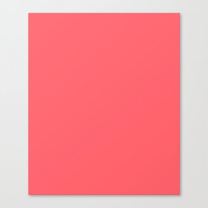 Coral Red Canvas Print