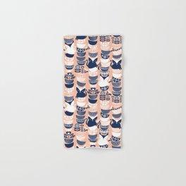 Swedish folk cats V // flesh background Hand & Bath Towel