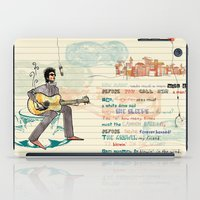 bob dylan iPad Cases featuring Bob Dylan by sandra conejeros