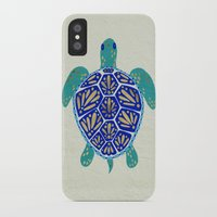 turtle iPhone & iPod Cases featuring Sea Turtle by Cat Coquillette