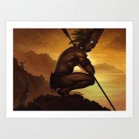 tiki Art Prints featuring Tiki by Bobkehl