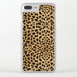 Cheetah Print Clear iPhone Case