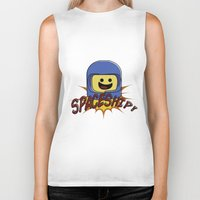 spaceship Biker Tanks featuring Spaceship!  by Brieana