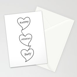 """ Mother's Day "" - Happy Mother's Day Three Hearts Design Stationery Cards"