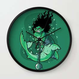 Mermaid's Punishment Wall Clock