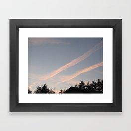 Plane Trails Framed Art Print