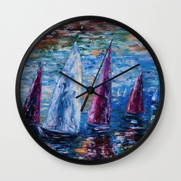 Sails To-Night Wall Clock