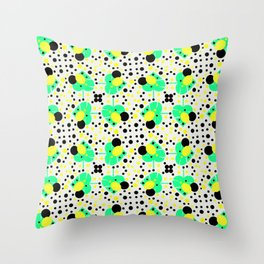 Bubbly pattern with leaves Throw Pillow