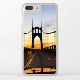 """St. John's Bridge Barry"" Clear iPhone Case"