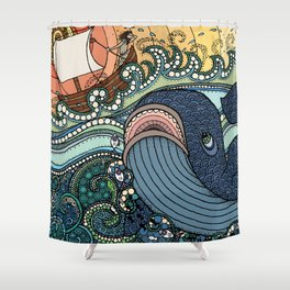 'Jonah and the Whale' Shower Curtain
