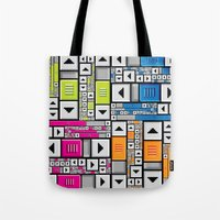 popart Tote Bags featuring ScrollBar PopArt by Roberlan Borges