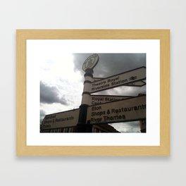 Where to in Windsor? Framed Art Print