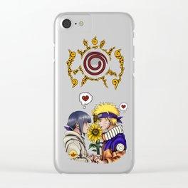 Naruto and Hinata Clear iPhone Case