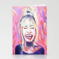 allyson johnson Stationery Cards featuring Betsey Johnson by AntiPosi