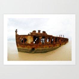 Ship wreck, Fraser Island, Queensland, Australia Art Print