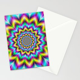 Yellow Blue and Violet Star Stationery Cards