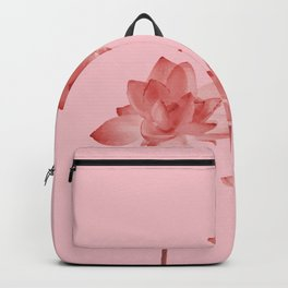 Three Lotos Flowers pink Design Backpack