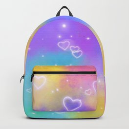 Colorful Art Design with Neon Hearts Ver.5 Backpack