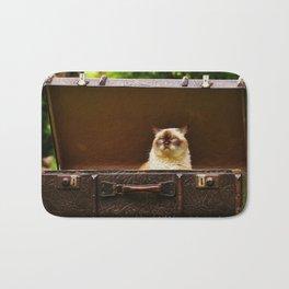 British shorthair cat Bath Mat