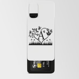 Monogram A, Last name Monogram A Android Card Case