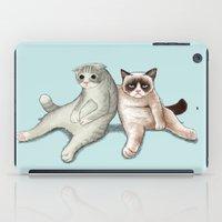 grumpy iPad Cases featuring Grumpy Friend by Tummeow