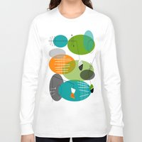 mid century Long Sleeve T-shirts featuring Mid-Century Modern Atomic Ovals by Kippygirl