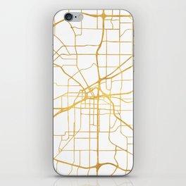 FORT WORTH CITY STREET MAP ART iPhone Skin