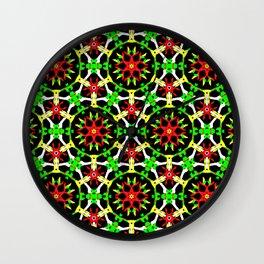 Poinsettia Patterns Wall Clock